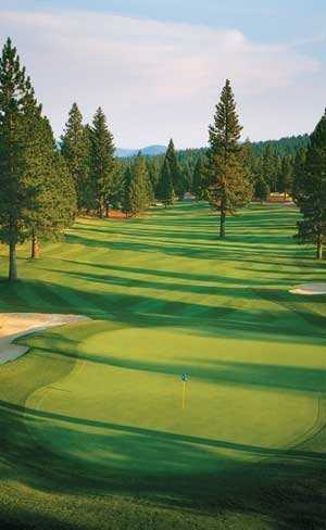 A view of the 9th green at Bailey Creek Golf Course