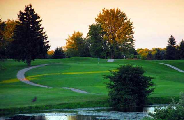 A fall view from Blue at Brookfield Country Club