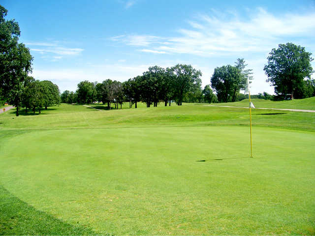 A view of a green at Cuba Lakes Golf Club