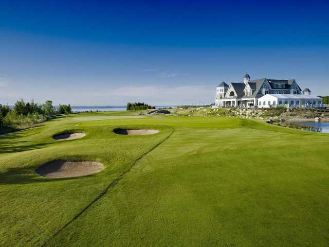 A view of the 9th hole at Cobble Beach Golf Links.
