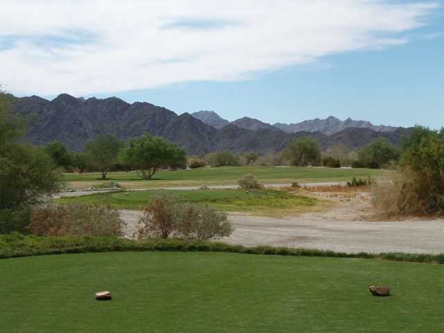 A view from a tee at Foothills Executive Golf Course
