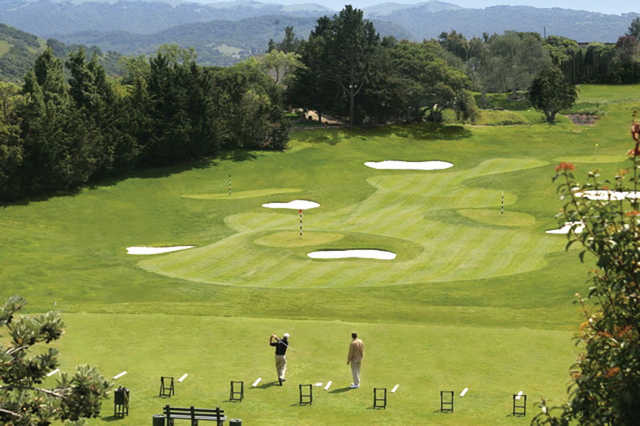 A view of the driving range at Corral de Tierra Country Club