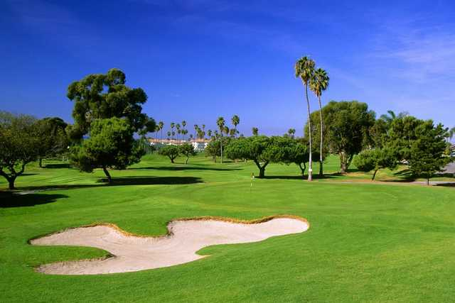 A view of the 12th green at San Clemente Golf Course