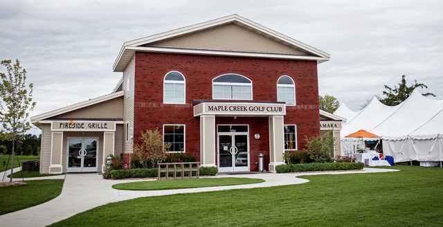 A view of the clubhouse at Maple Creek Golf Club