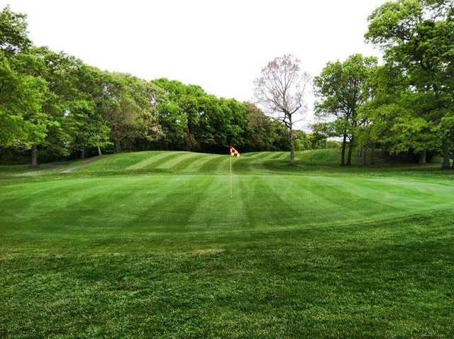 A view of a green at Rolling Oaks Golf Course