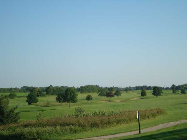 A view of the greens and fairways at Jefferson Golf Club