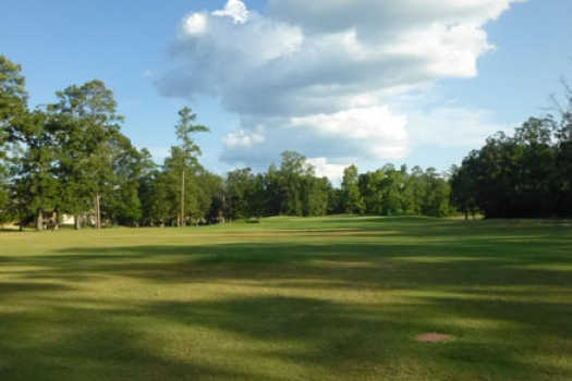 A view of a fairway at Neches Pines Golf Course
