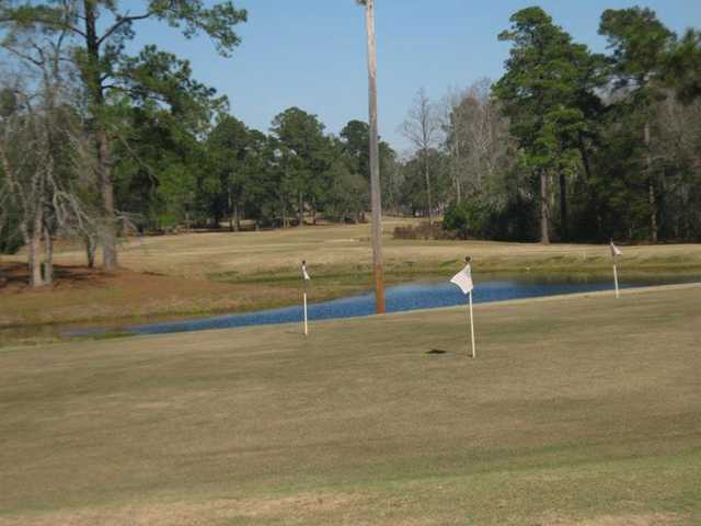 A view of the practice area at Pineland Country Club
