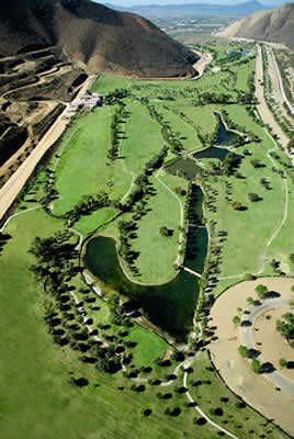 Aerial view from Baja Country Club