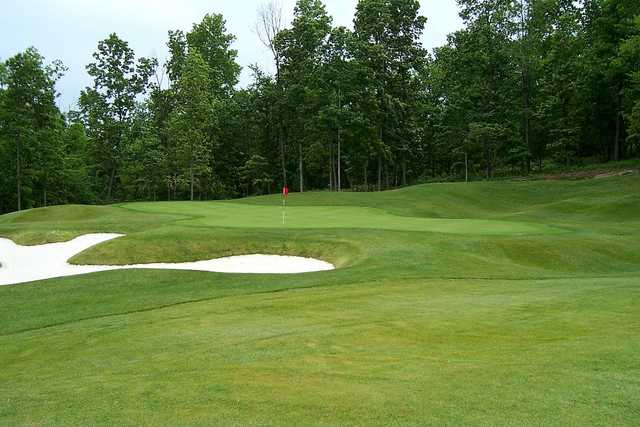 A view of the 7th hole at Mountain from Lakeview Golf Club.