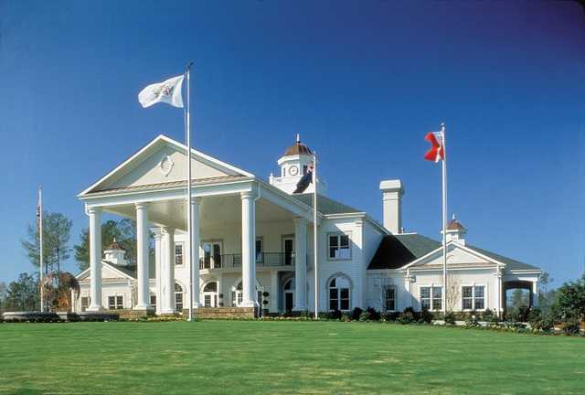 A view of the clubhouse at World Tour Golf Links