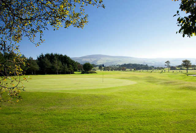 A view of a green at Peel Golf Club