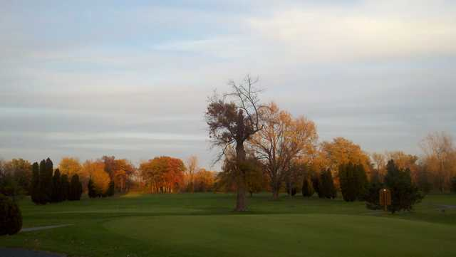 Sunset fall colors at Spuyten Duyval Golf Club