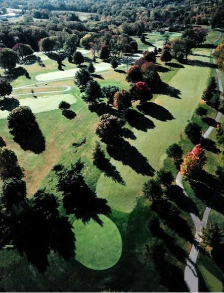 Aerial view of the 6th hole at Shelbyville Country Club
