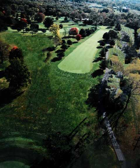 Aerial view of the 2nd fairway at Shelbyville Country Club