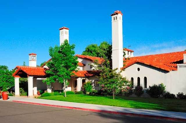 A view of the clubhouse at Albuquerque Country Club