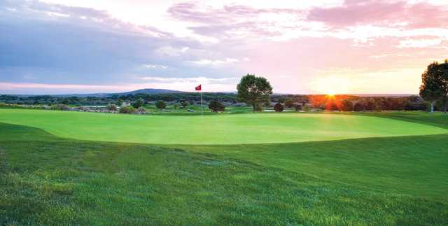 A view of a green at Isleta Eagle Golf Course.