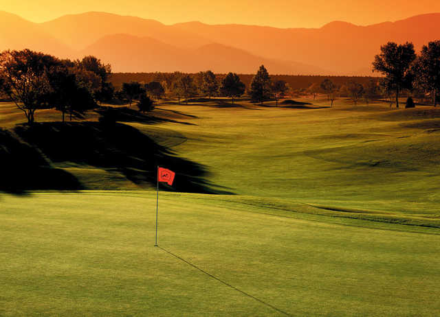 A view of the 8th hole at Acoma Course from Tanoan Country Club.