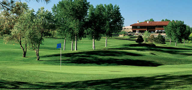 A view of the clubhouse at Tanoan Country Club.