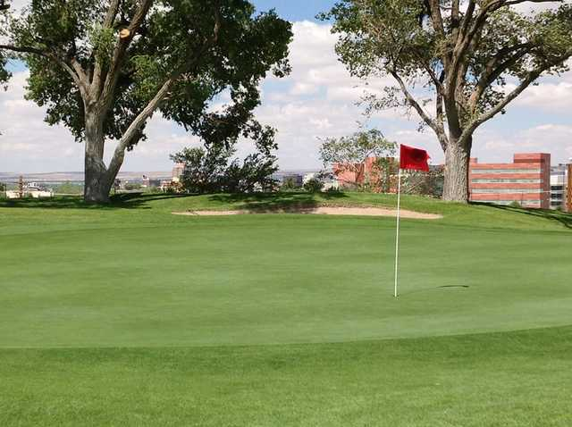 A view of the 2nd hole at University of New Mexico North Course