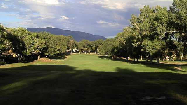 A view of fairway #5 at University of New Mexico North Course