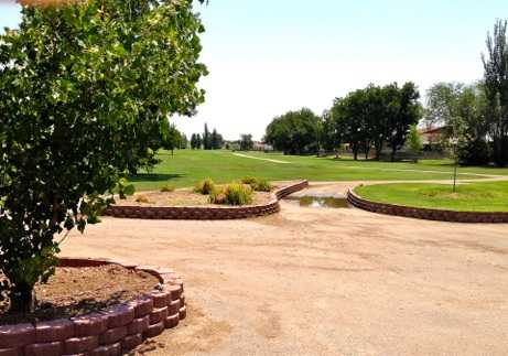 A view of the 1st fairway at Championship from Lake Carlsbad Golf Course