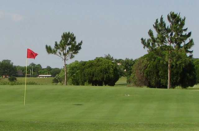 A view of green #17 at Falconhead Resort & Country Club