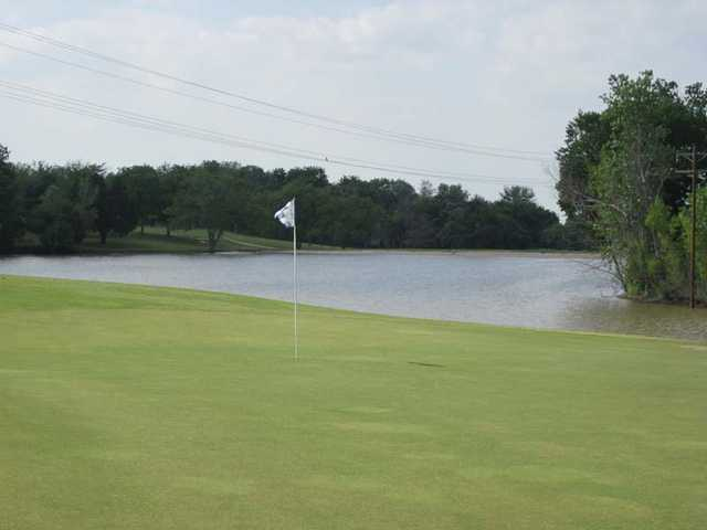 A view of hole #1 at Webb Hill Country Club