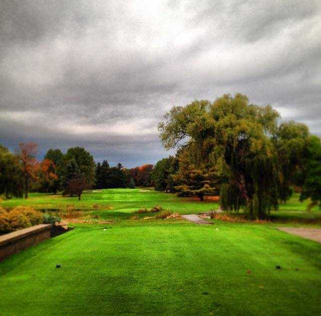 A view from a tee at Maple Brook Golf Club