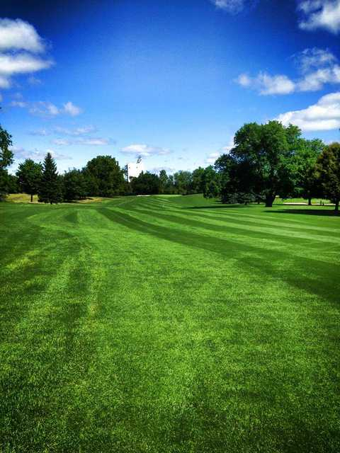 A view of a fairway at Maple Brook Golf Club