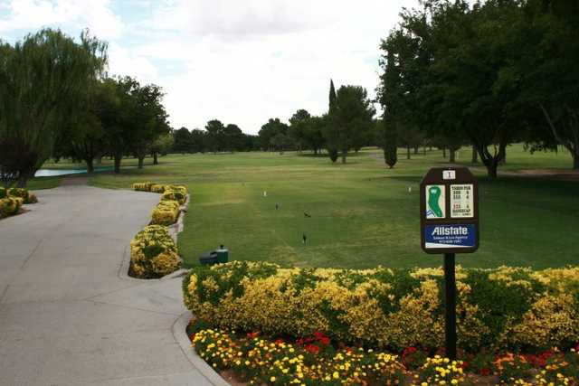 A view of the 1st tee at Lone Star Golf Course