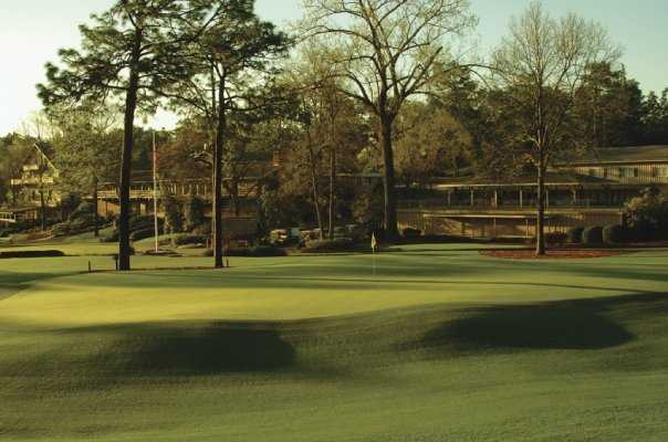 A view of green #18 at Pine Needles Resort & Golf Club