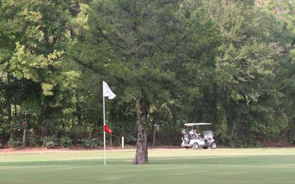 A view of a hole at Spring Valley Golf and Disc Golf Club