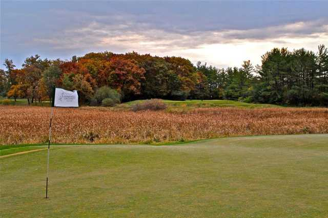 A view of the 13th green at Stonewall Orchard Golf Club