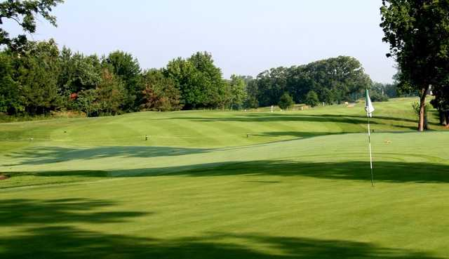 A view of hole #10 at Stonewall Orchard Golf Club