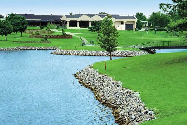 A view of the clubhouse at Greens Country Club