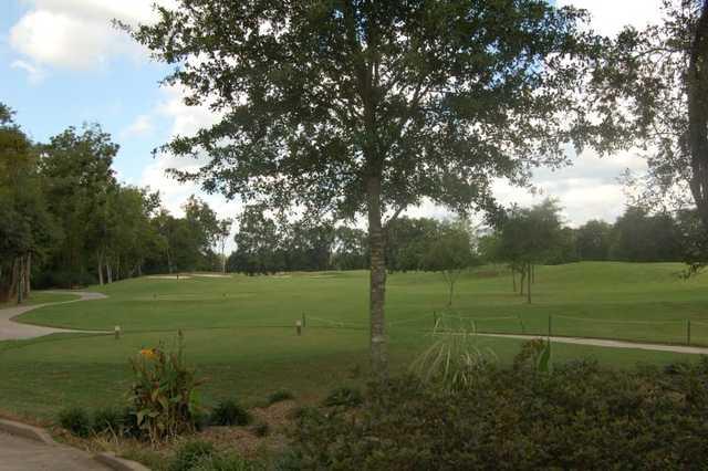A view of a tee at Farm d'Allie Golf Club