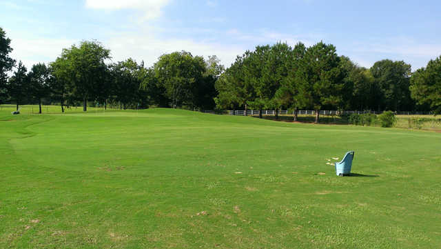 A view of the practice area at Farm D'Allie Golf Club