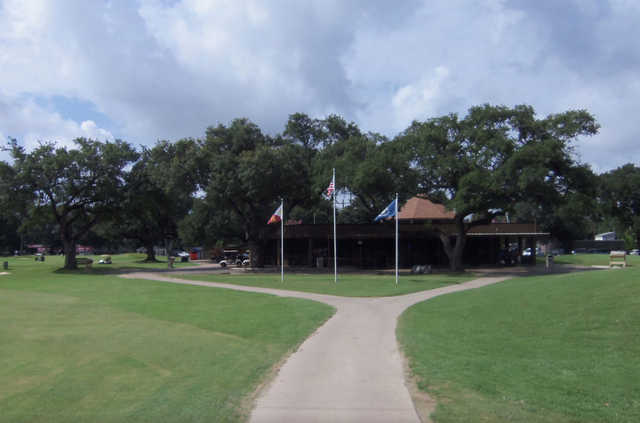 A view of the clubhouse at The Jay & Lionel Hebert Municipal Golf Course