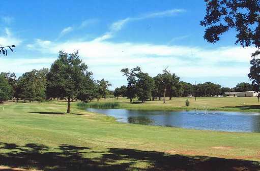 A view of a fairway at Tri-County Golf Club