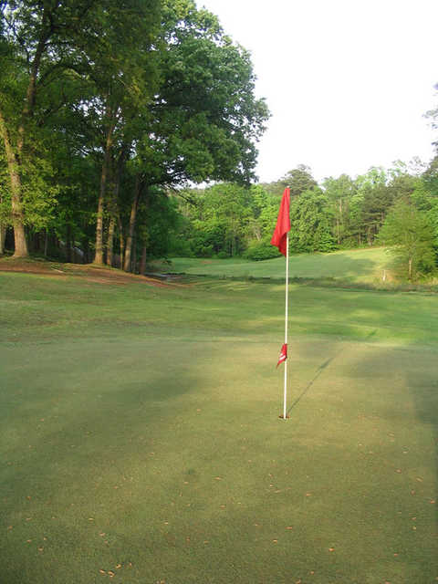 A view of the 7th green at Birmingham Forest Golf Club