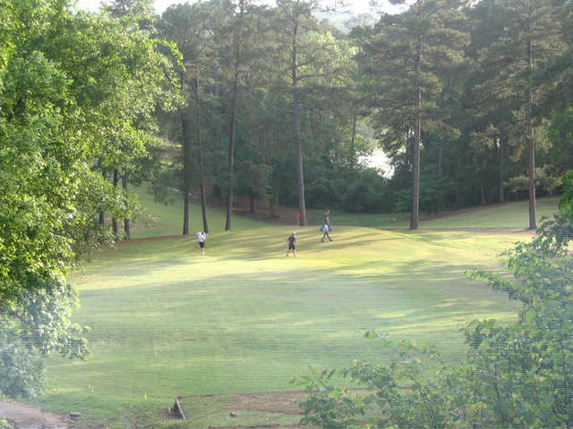 A view from the highest point on the course, tee #15 at Birmingham Forest Golf Club