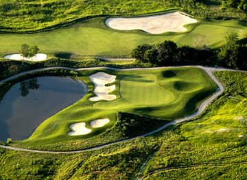 Aerial view of Willow Valley Golf Course