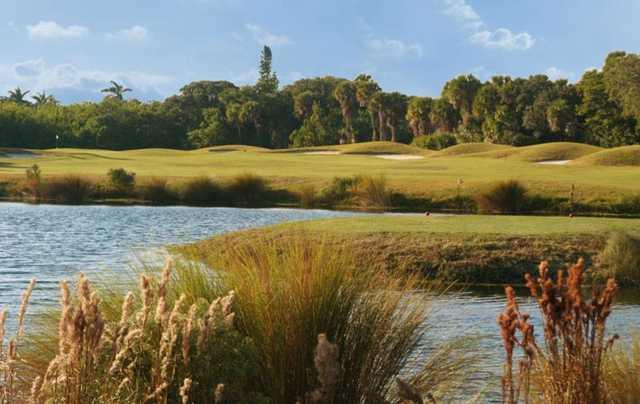 View of the par-4 4th hole at Aquarina Country Club