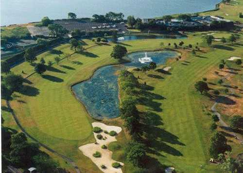 Aerial view from The Golf Club at Middle Bay