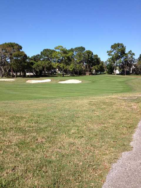 View from the cart path of the 10th hole at Seven Hills Golfers Club.