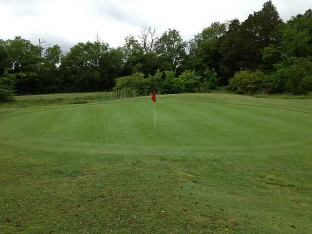 A view of a green at Hunters Point Golf Club