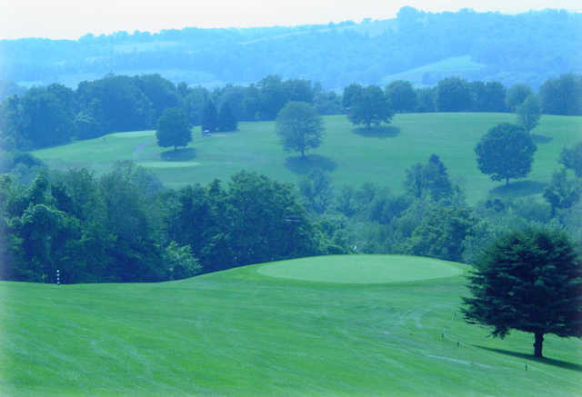 A view of a green at Dogwood Hills Golf Course