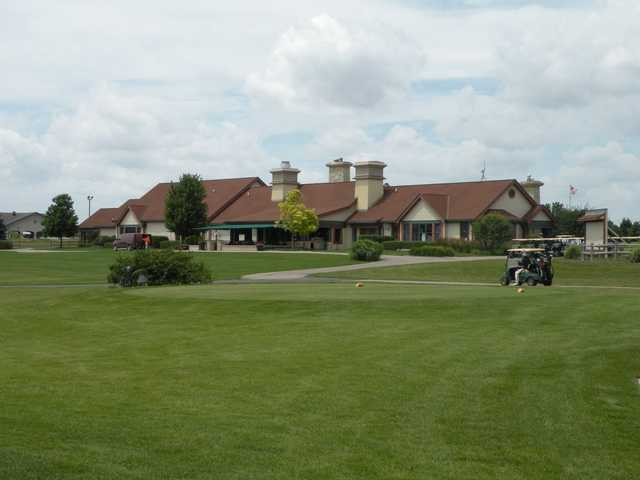 A view of the clubhouse at Prairie Bluff Golf Club.