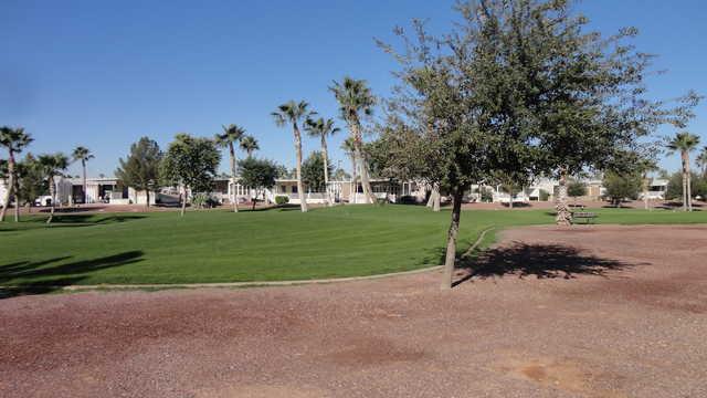 A view of a fairway at Palm Creek Golf Club